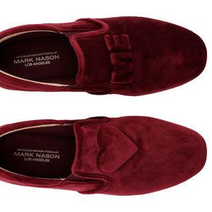 Mark Nason Reptile Cup Jett  Red Velvet Sneakers